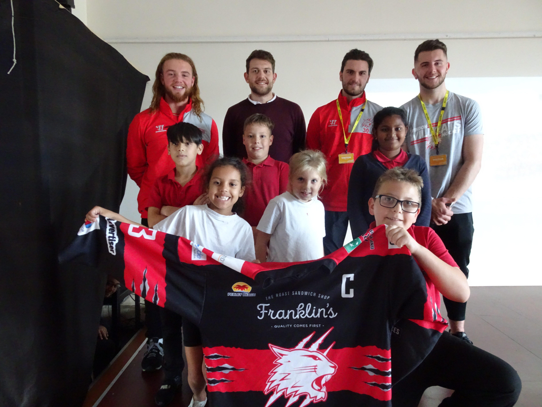 Swindon Wildcats in the Community Charity school